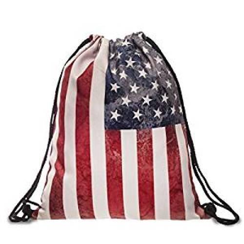 Ababalaya 3D Print Drawstring Backpack Rucksack Shoulder Bags Gym Bag - Drawstring Bags