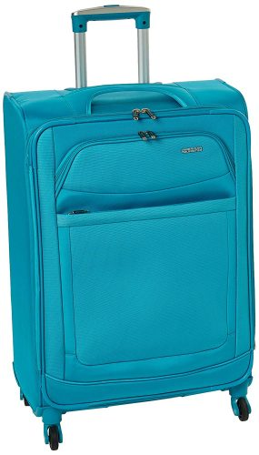 American Tourister Ilite Max Softside Spinner 25, Light Blue - Lightweight luggage