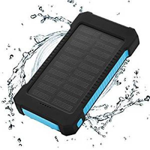 Solar Charger Power Bank 10,000mAh - FLOUREON Portable Phone Solar Charger Dual USB - Solar Power Banks