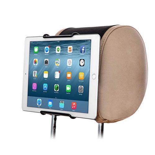 """TFY Universal Car Headrest Mount Holder, Fits ALL 7 Inch to 11 Inch Tablets - Apple iPad, iPad 4 (iPad 2 & 3), iPad Air, iPad Mini 2/3/4 - iPad Pro 9.7"""" - Samsung Galaxy Tab & Note and More - Ipad Car Mounts"""