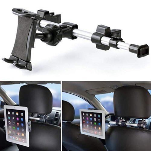 iKross Tablet Mount Holder Universal Tablet Car Backseat Headrest Extendable Mount Holder For Apple iPad Pro 10.5, iPad Pro 9.7, iPad Air/Mini, Samsung Galaxy Tab, and 7-10.2-inch Tablet - Black - Ipad Car Mounts