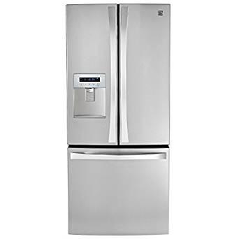 Kenmore Elite 71323 21.8 Cu. Ft. Wide French Door Bottom Freezer Refrigerator