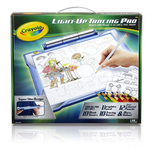 Crayola Light-up Tracing Pad - Blue, Coloring Board for Kids, Gift, Toys for Boys, Ages 6, 7, 8, 9, 10