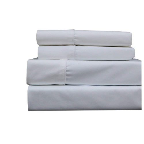 Royal Hotel Queen White 650-Thread-Count Sheet Set, Cotton-Blend Wrinkle-Free Sheets