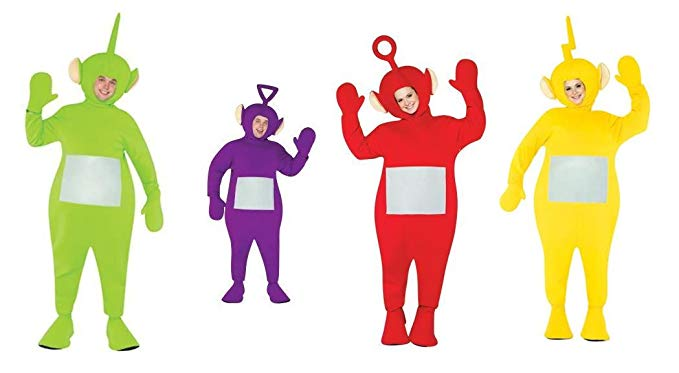 Teletubbie Adult 4 Pack Costume - One Size - Chest Size 42-48
