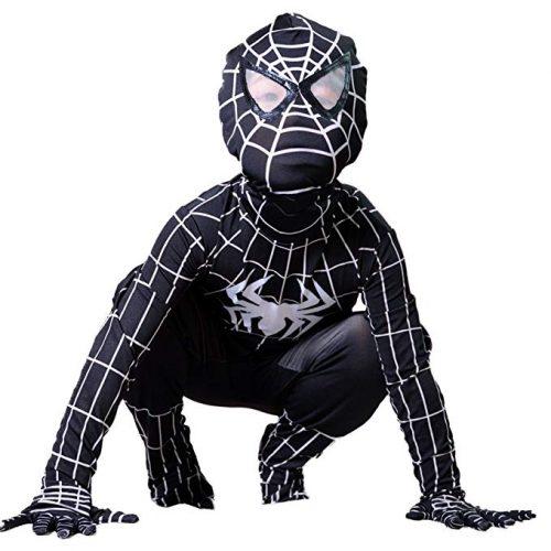Boys Venom Black Spiderman Costume Kids Cosplay Spandex Bodysuit - Spiderman Costume for Kids