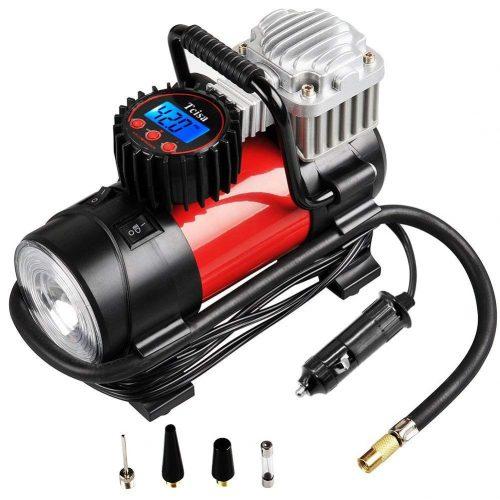 Tcisa Portable Air Compressor Pump 150 PSI, 12V 140W Auto - Portable Air Compressors