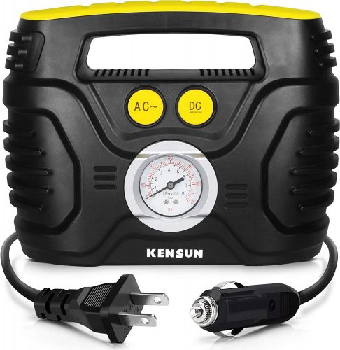 Kensun AC/DC Swift Performance Portable Air Compressor Tire - Portable Air Compressors