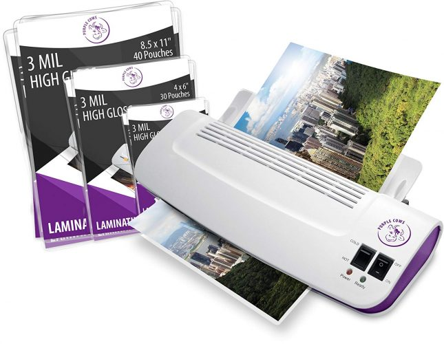 "Purple Cows Hot and Cold 9"" Laminator - laminating machines"