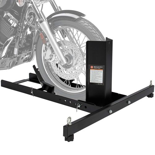 Best Choice Products SKY2725 Adjustable Motorcycle Stand Wheel Chock - Motorcycle Wheel Chock