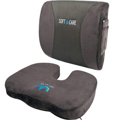 SOFTaCARE Seat Cushion Coccyx Orthopedic Memory Foam Lumbar Support Pillow - Lumbar support pillows