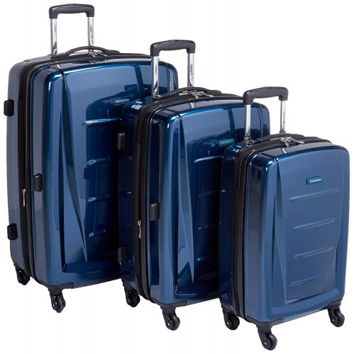 Samsonite Winfield 2 3PC Hardside (20/24/28) Luggage Set, Deep Blue - luggage sets