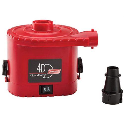 Coleman 4D Battery QuickPump Electric Pump - Electric Portable Air Mattress Pumps
