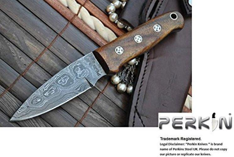 Perkin Damascus Knife - Bushcraft Knives