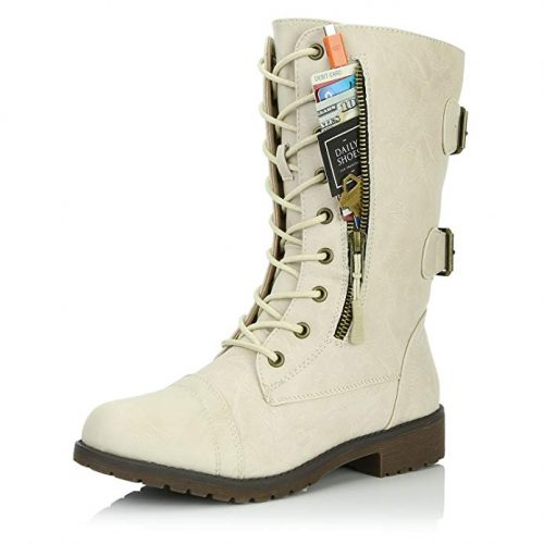 DailyShoes Women's Military Combat Lace up - Combat Boots For Women
