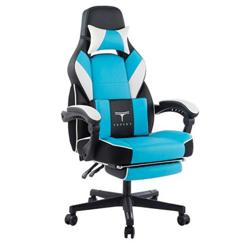 TOPSKY High Back Racing Style PU Leather Executive Computer Gaming Office Chair   - Minimal Design Office Chair