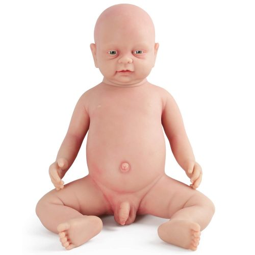 Vollence 18 inch Realistic Reborn Baby Doll, PVC Free, Real Full Body Silicone Baby Dolls, Handmade Lifelike Soft Silicone Baby doll Clothes -Boy