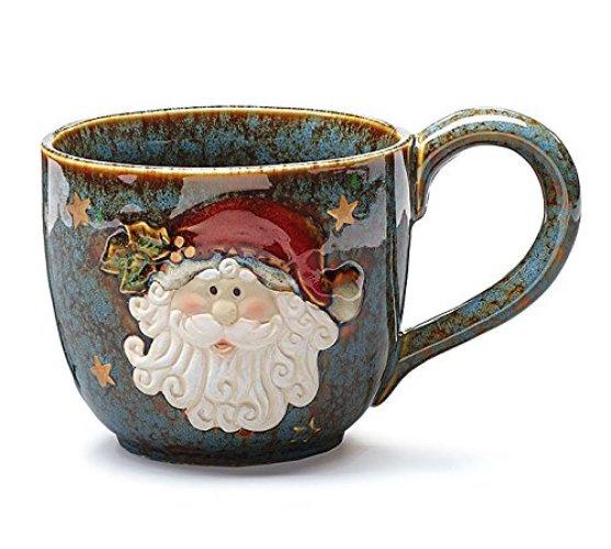 Large Santa Clause 30 Oz Christmas Soup Mug - Christmas Mugs