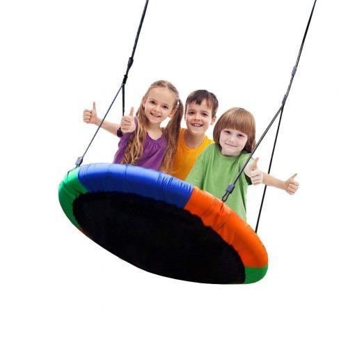 Blue island Tree Swing- Large Size 40-inch Diameter Durable Swing - Tree Swings