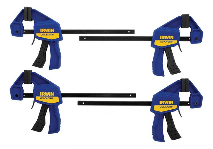 "IRWIN QUICK-GRIP One-Handed Clamp 4 Pack, 6"" - woodworking clamps"