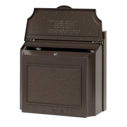 Whitehall Products 16138 Mailbox, French Bronze - wall mount mailboxes