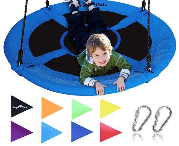 Giant Tree Swing in the Elite Blue –Fun for Kids! - Tree Swings