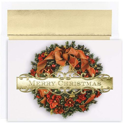 Great Papers! Holiday Greeting Card, Christmas Wreath - Christmas Greeting Cards