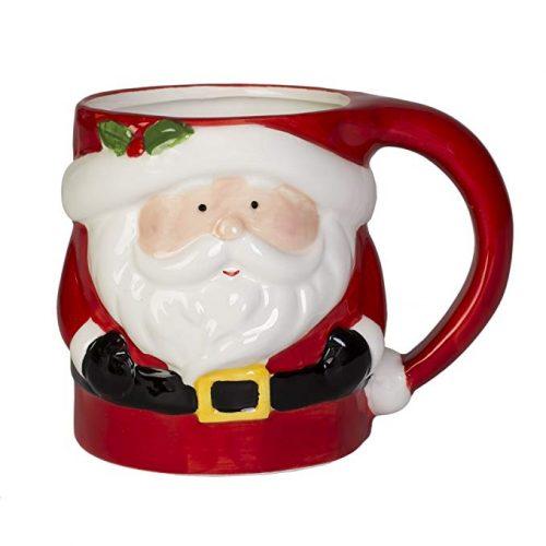 Santa Claus Holiday Character Dolomite Christmas Coffee Mug - Christmas Mugs
