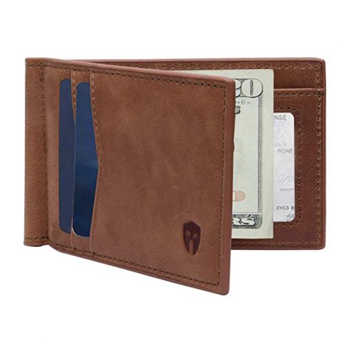 RFID Blocking Slim Minimalist Front Pocket Wallet - Christmas Gifts for Him