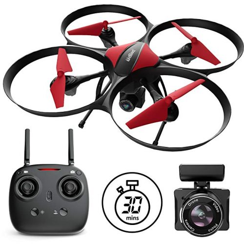 "Force1 Drones with Camera - ""U49C Red Heron"" Camera Drone  - Christmas Gifts for Him"