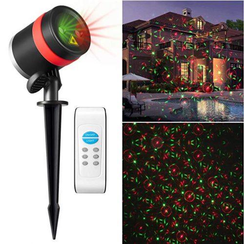Goutoday Laser Lights Remote Outdoor&Indoor Projector Lights - Outdoor Laser Light for Christmas