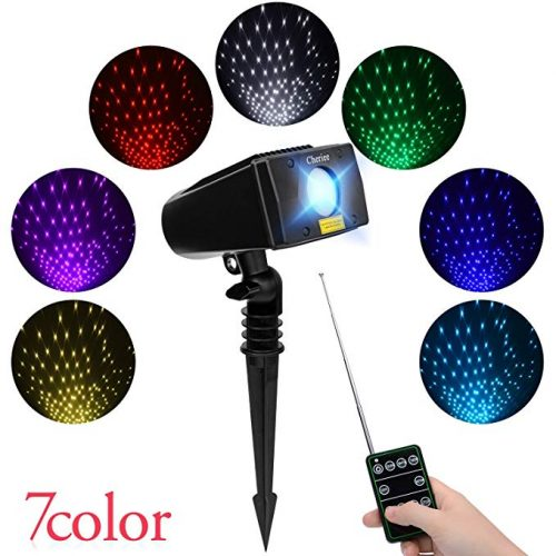 Laser Christmas Lights 7 In 1 Colour Outdoor Star Projector - Outdoor Laser Light for Christmas