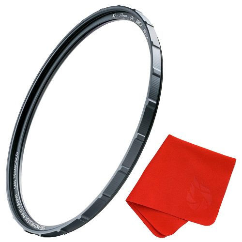 72mm X2 UV Filter For Camera Lenses - UV Protection Photography Filter with Lens Cloth - MRC8, Nanotech Coatings, Ultra-slim, Traction Frame, Weather-Sealed by Breakthrough Photography