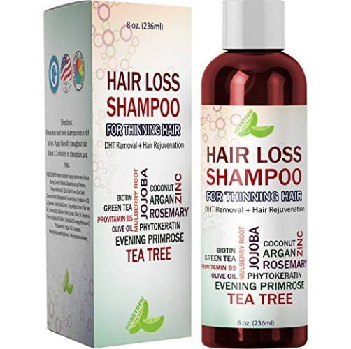 Best Hair Loss Shampoo Potent Hair Loss Fighting Formula 100% Natural Topical Regrowth - Hair Re-growth Product for Men