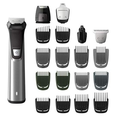 Philips Norelco MG7750/49 Multigroom 7000 Face Styler and Grooming Kit - Hair Clippers for Men