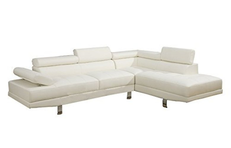Modern Contemporary Faux Leather Sectional Sofa - Corner Sofa (L shape sofa)