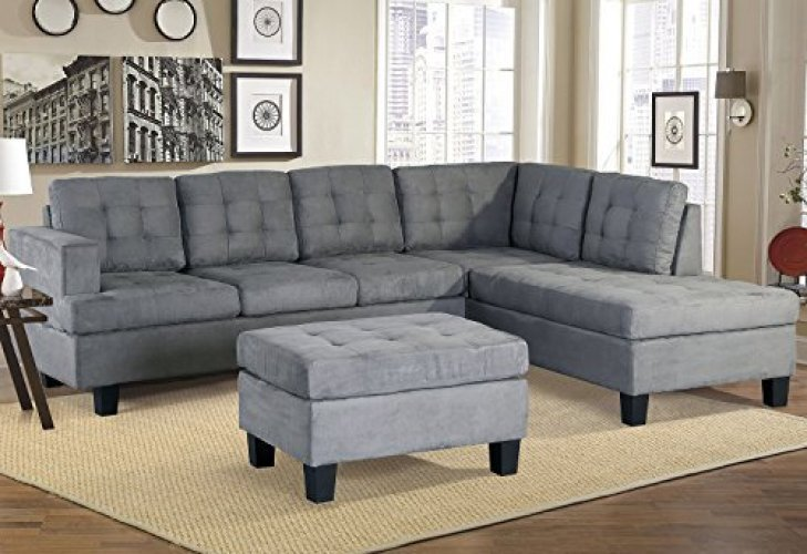 Merax. Sofa 3-Piece Sectional Sofa with Chaise and Ottoman - Corner Sofa (L shape sofa)