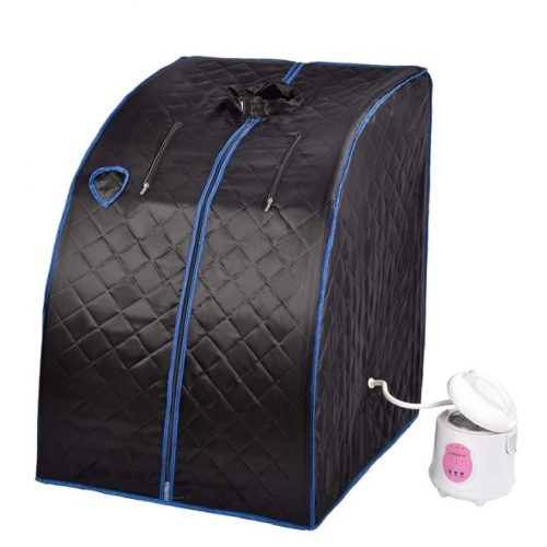 SUNCOO Portable Sauna Home Steam Sauna Spa Full Body Slimming Loss Weight Detox Therapy (Black)