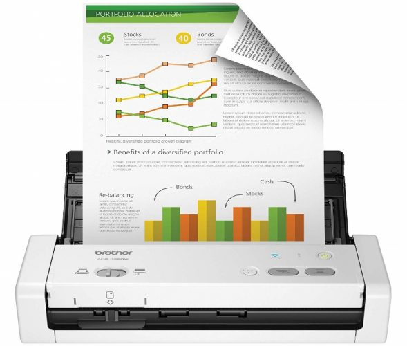 Brother Wireless Portable Compact Desktop Scanner - Portable Scanners