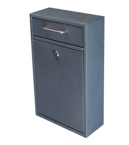 Mail Boss 7415 High-Security Steel Locking Wall Mounted Mailbox - Office Drop Box - Comment Box - Letter Box - Deposit Box, Granite