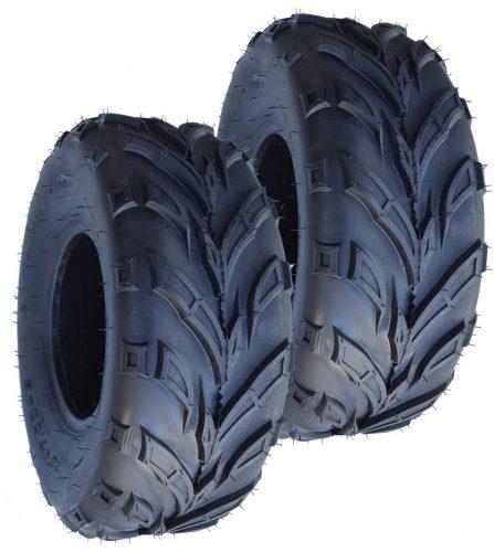 Pair of 2 SunF A021 TT Sports ATV UTV Dirt & Flat Track Tires 25x8-12, 6 PR, Tubeless