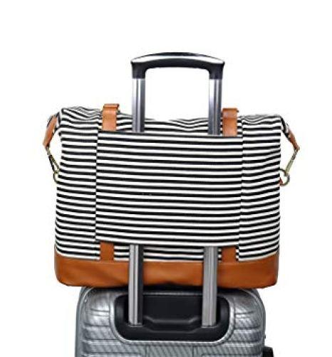 CAMTOP Women Ladies Weekender Travel Bag Canvas Overnight - Weekender Bags For Women