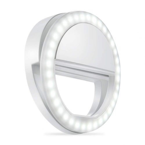 Whellen l184 Selfie Ring Light with 36 LED Bulbs, Flash Lamp Clip Ring Lights Fill-in Lighting Portable for Phone/Tablet/ iPad/Laptop Camera – White