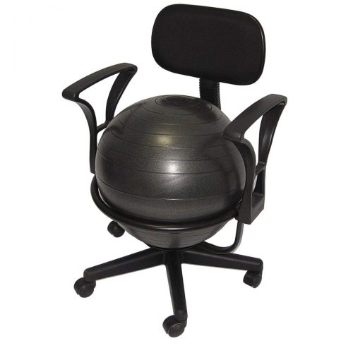 Deluxe Fitness Ball Chair in Black - Office Ball Chairs