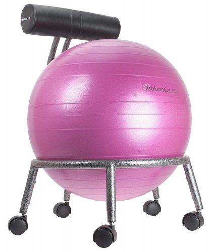 Isokinetics Inc. Brand Adjustable Fitness Ball Chair - Office Ball Chairs
