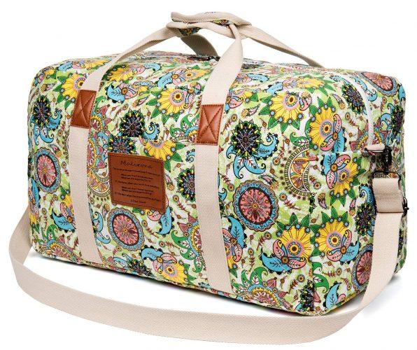 Malirona Canvas Weekender Bag Travel Duffel Bag - Weekender Bags For Women