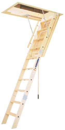 Werner Duty Rating Wood Folding Heavy Duty Attic Ladder - Attic Ladders