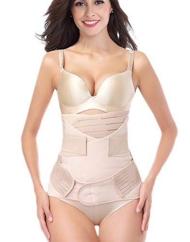 DICOOL 3 in 1 Postpartum Support Recovery Girdle Corset Belly Waist Pelvis Belt Shapewear Belly Wrap