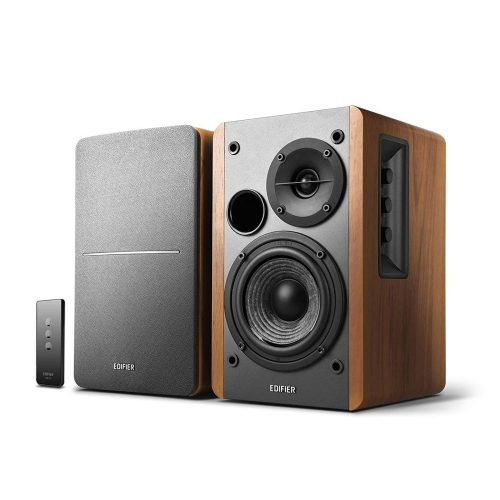 Edifier R1280T Powered Bookshelf Speakers - 2.0 Active Near Field Monitors - Studio Monitor Speaker - Wooden Enclosure - 42 Watts RMS