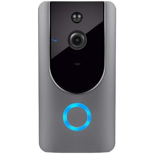 Smart Wireless WiFi Video Doorbell HD Security Camera with PIR Motion Detection Night Vision Two-Way Talk and Real-time Video Suitable for iPhone Samsung LG Sony Nokia etc.… (Silver)